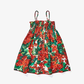 Dolce & Gabbana Portofino Print Poplin Sundress (Toddler/Little Kids)