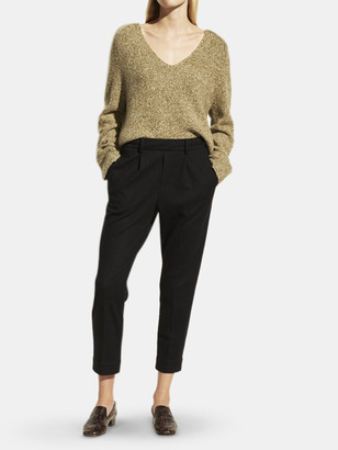 Vince Cozy Pull On Wool-Blend Pleated Pant