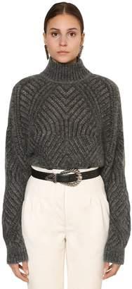 Alberta Ferretti Superkid Mohair Blend Knit Sweater