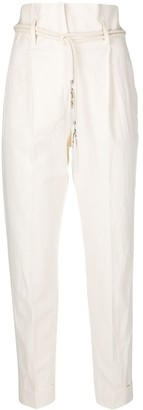 Peserico High-Waisted Turn-Up Trousers