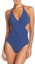 Tory Burch Halter One-Piece Swimsuit