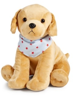 Closeout! Martha Stewart Collection Americana Patriotic Plush Golden Retriever, Created for Macy's