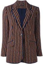 Diane von Furstenberg wavy striped blazer