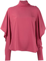 Marni draped Juliet sleeve blouse - women - Silk/Acetate - 40