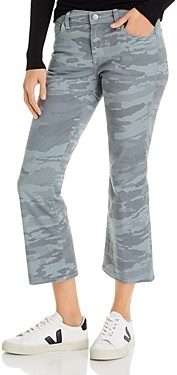 J Brand Selena Mid-Rise Crop Bootcut Jeans in Light Dakota Snow Camo - 100% Exclusive