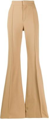 Chloé high-waisted flared trousers