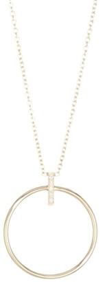 Zoë Chicco Pave Diamond Gold Hoop Pendant Necklace