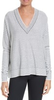 ATM Anthony Thomas Melillo Women's Stripe Silk Blend Sweater