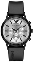 Emporio Armani Chronograph Silicone Strap Watch, 43Mm