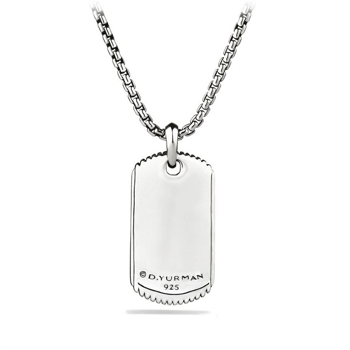 David Yurman Royal Cord Tag on Chain