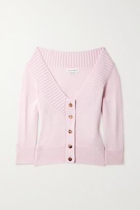 Alexander McQueen Off-the-shoulder Cashmere Cardigan - Pink