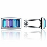 Forzieri Gradient Crystal Silver-plated Cufflinks