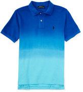 Ralph Lauren Dip-Dyed Basic Mesh Polo Shirt, Pacific Royal, Size 2T-4T