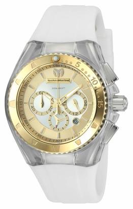 Technomarine Women's Cruise Stainless Steel Quartz Watch with Silicone Strap White 25 (Model: TM-116002)