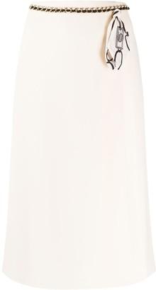 Elisabetta Franchi Belt Detail Skirt