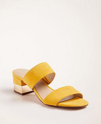 Ann Taylor Liv Suede Block Heel Sandals