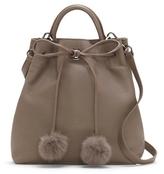 Louise et Cie Yvette – Fur Pom Bucket Bag