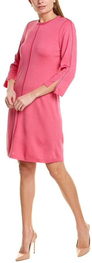 St. John Milano Wool-Blend A-Line Dress