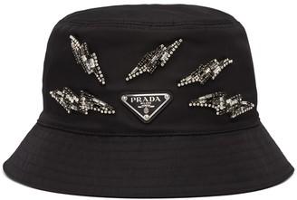 Prada Embellished Bucket Hat