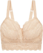 Cosabella Never Say Never Curvy Sweetie Stretch-lace Soft-cup Bra - Blush