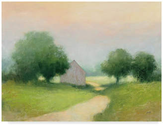 "Country Road Trademark Fine Art Julia Purinton 'Country Road And Barn' Canvas Art, 47""x35"""