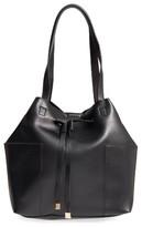 Sole Society Jocelynn Faux Leather Bucket Bag - Black