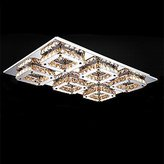 Brother quan LED Crystal Flush Mount, Modern Amber Laser Processing