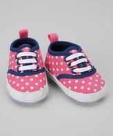 Luvable Friends Pink Dot Canvas Sneaker