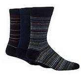 J By Jasper Conran Designer Pack Of Three Blue Mercerised Cotton Blend Socks