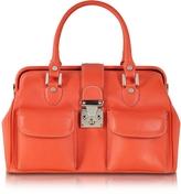 L.a.p.a. Deep Orange Leather Doctor Bag