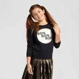 Xhilaration Girls' Graphic Pullover Black