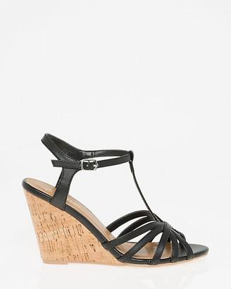Le Château Faux Leather T-Strap Sandal
