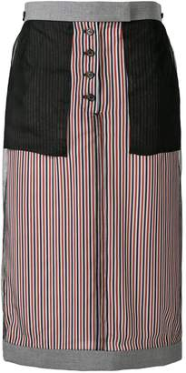 Thom Browne Exposed School Uniform Sack Skirt