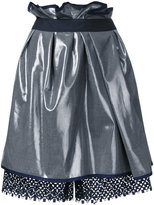 Kolor metallic gathered skirt - women - Polyester/Wool - 1