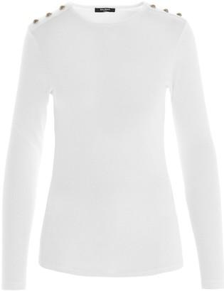 Balmain Buttoned Jersey Sweater