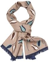"Valentino Women's Silk Tulip Print Scarf 54"" x 9"""