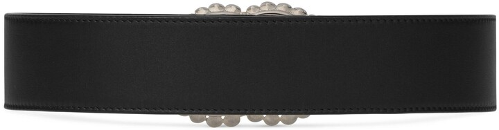 Thumbnail for your product : Gucci Leather belt with Double G buckle