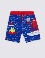 Marks and Spencer Printed Swim Shorts (0-5 Years)