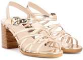 A.P.C. Metallic leather sandals