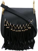 Chloé Small Black Hudson Fringe Shoulder Bag - women - Leather/Suede - One Size