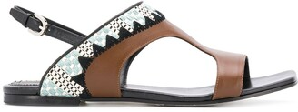 Emilio Pucci Abstract Print Sandals