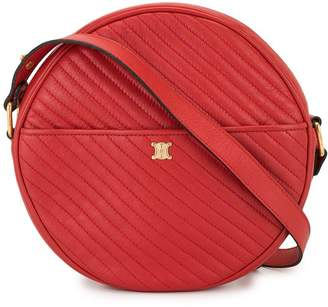 Celine Pre-Owned diagonal quilt round crossbody bag