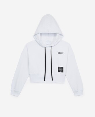 The Kooples patch white hoodie