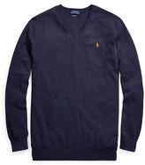 Ralph Lauren Big & Tall Cotton V-Neck Sweater