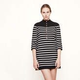 Maje Sailor-style knit dress