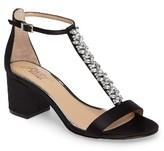 Badgley Mischka Women's Lindsey Embellished T-Strap Sandal