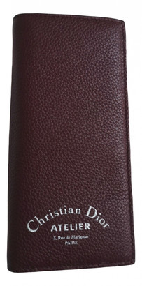 Christian Dior Burgundy Leather Small bags, wallets & cases