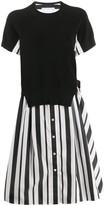 Sacai contrast mid-length dress