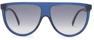 Celine Shadow D-frame Aviator Sunglasses - Navy