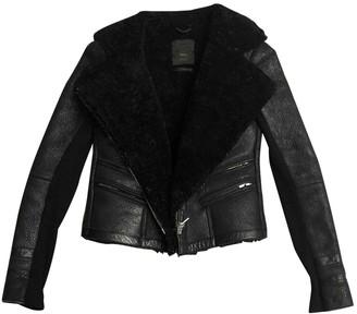 Veda Black Leather Jacket for Women